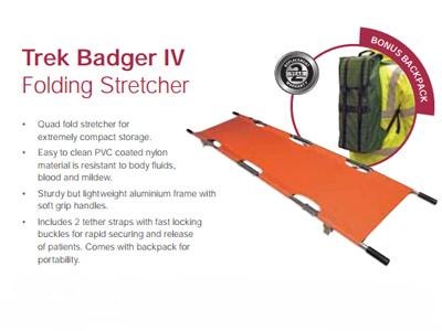 Trek Badger IV Folding Stretcher