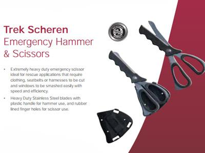 Trek Scheren Emergency Hammer & Scissors